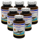 Special Bundel: 6 Bottles of WooHoo Natural 100% Natural Shark Cartilage MAX-III + Tumeric 120 Capsules