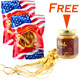 Buy 2 Fresh Ginseng (Extra Jumbo) 8oz (3-5 roots), GET 1 FREE WOHO 100% Pure Creamed Raw Honey with American Ginseng 8oz (226g)